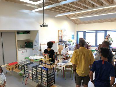 Visite des élus Classe 1 Maternelle